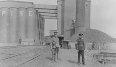 Soldiers guarding grain elevator thumbnail