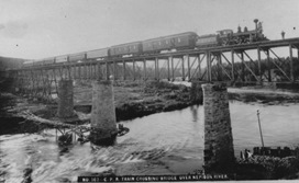 Train on Nipigon Bridge 1885 thumbnail